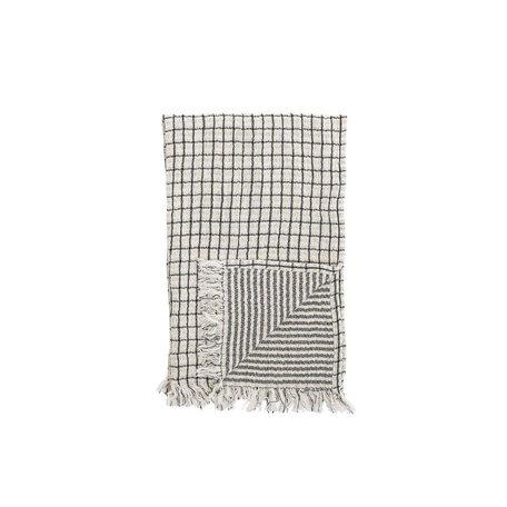 Cotton Hand Towel w/ Fringe -Black