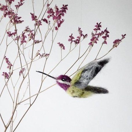 HUMMINGBIRD -Needle Felting Workshop with Warm & Drift Sunday January 19th
