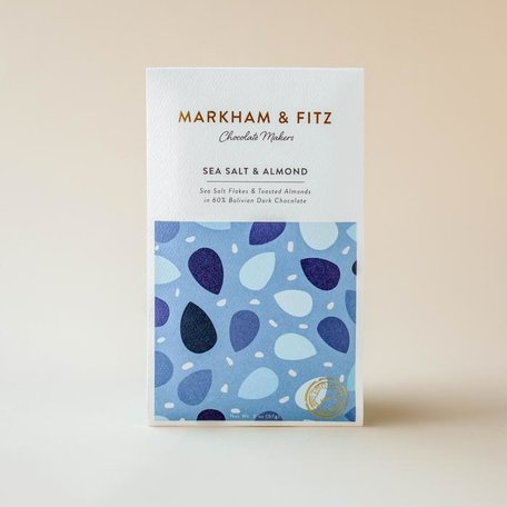 Markham & Fitz Sea Salt & Almond Bar 60%2oz