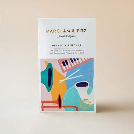 Markham & Fitz Dark Milk & Pecans Bar 52%2oz