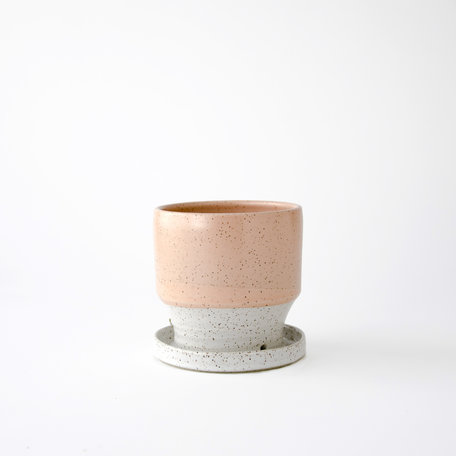 Dipped Speckled Mini Planter w/ Base -Assorted Colours
