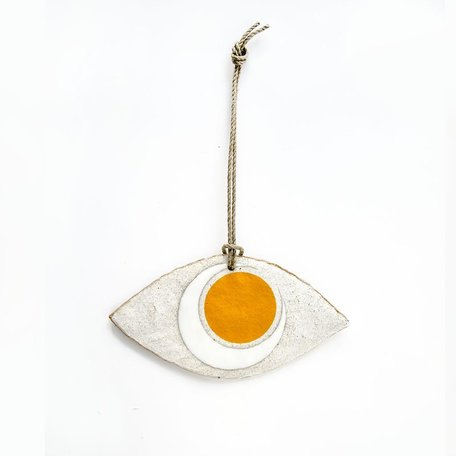 Marigold Crescent Eye Ornament -Large