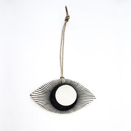 Black Crescent Eye Ornament -Large