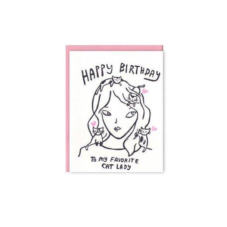 Cat Lady Card