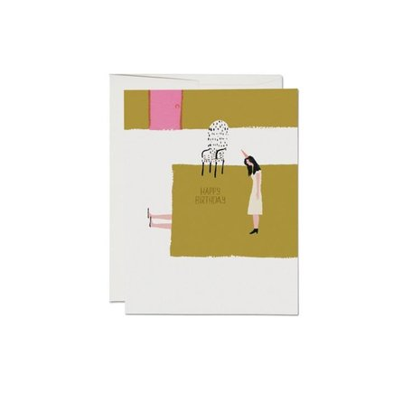Under the Rug Birthday Card