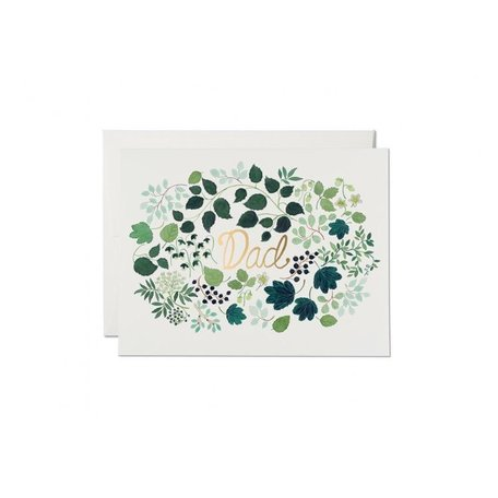 Green Floral Dad Card