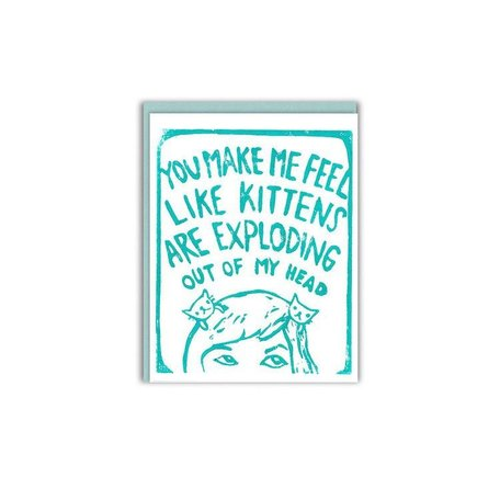 Kittens Exploding Card