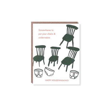 Chairs, Underwears Housewarming Card