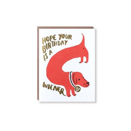Wiener Birthday Card