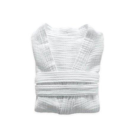 Crinkle Robe S/M -White