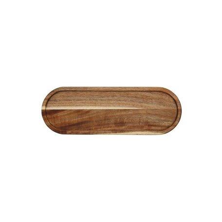 Acacia Wood Tray -Long