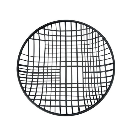 Round Black Wire Tray -Large
