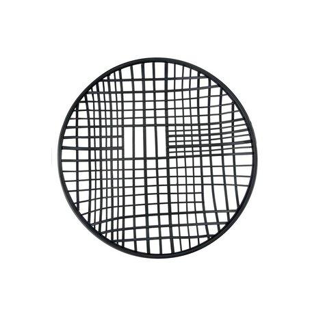 Round Black Wire Tray -Small