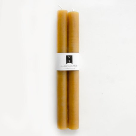 Rolled Beeswax s/2 Candles, Gold