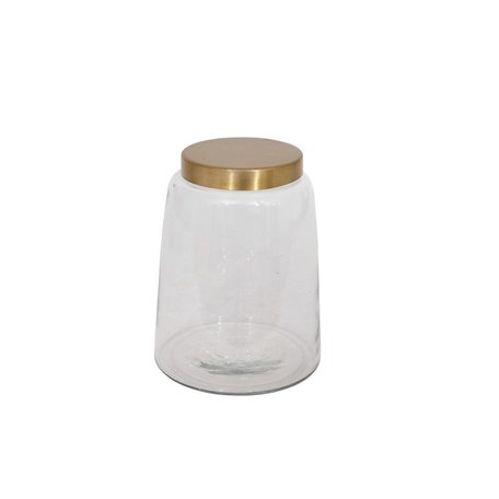 Glass Jar w/ Brass Lid -Large