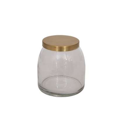 Glass Jar w/ Brass Lid -Medium