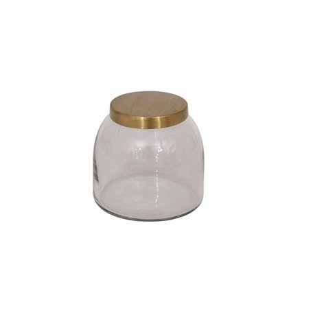 Glass Jar w/ Brass Lid -Small