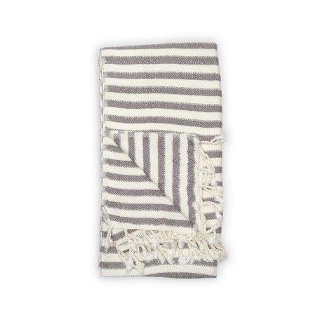 Striped Bamboo Turkish Towel -Grey