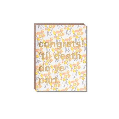 Til Death Congrats Card