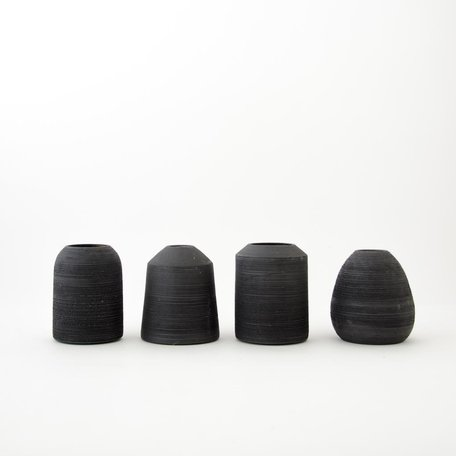 Ribbed Bud Vase -assorted shapes