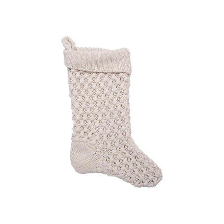 Knit Stocking -Cream