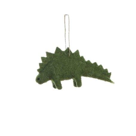 Felted Dinosaur Ornament -Stegosaurus