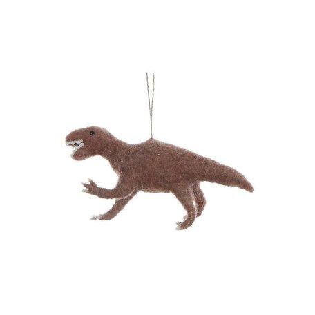 Felted Dinosaur Ornament -Velociraptor