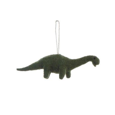 Felted Dinosaur Ornament -Brontosaurus