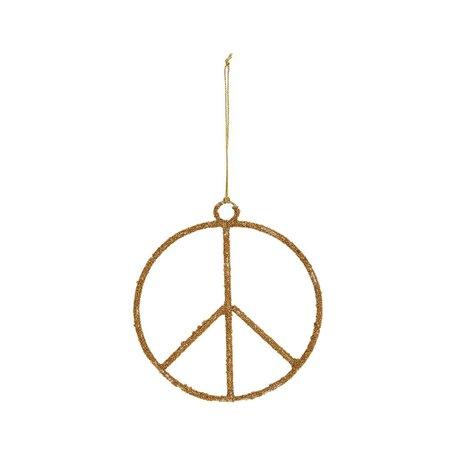 Beaded Peace Sign Ornament