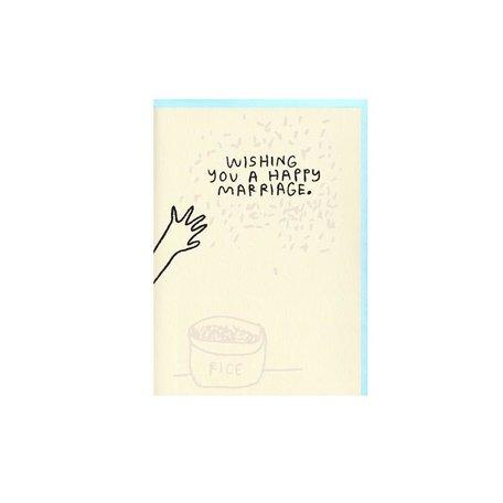Rice Wedding Card