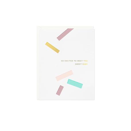 Sweet Baby Confetti Card