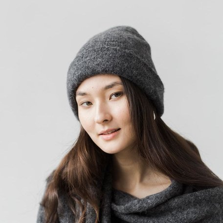 Andes Beanie -Dark Charcoal
