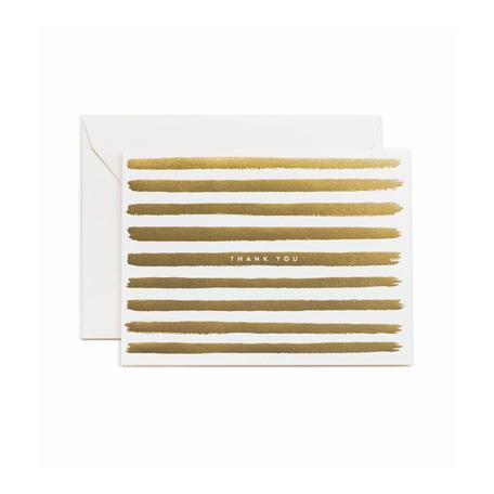 Gold Stripes Thank You Card Box/8