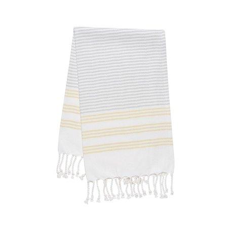 Hammam Hand/Tea Towel -Citron Stripe
