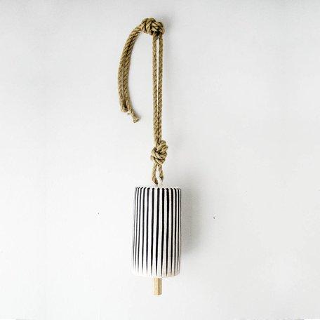 Black Stripe Tall Thrown Bell -Large