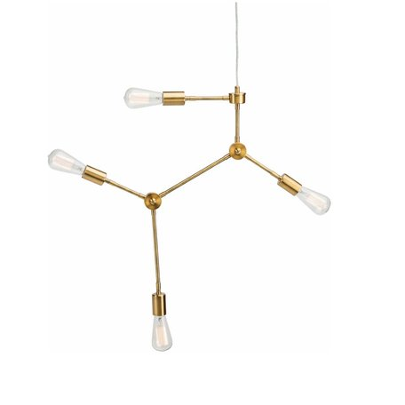 Pratt Pendant Lamp -Antique Brass