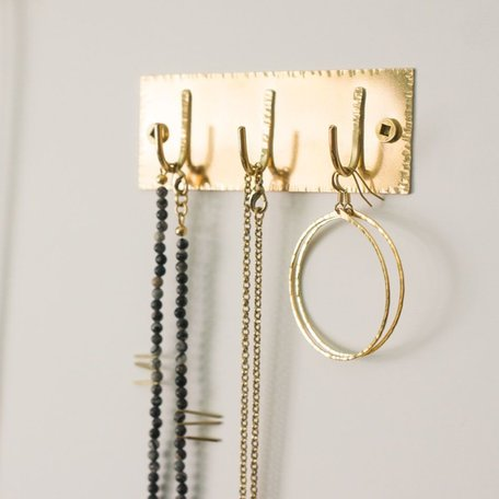 Brass Rectangle Triple Hook
