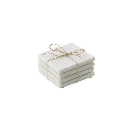 Square Marble Coasters -Set/4