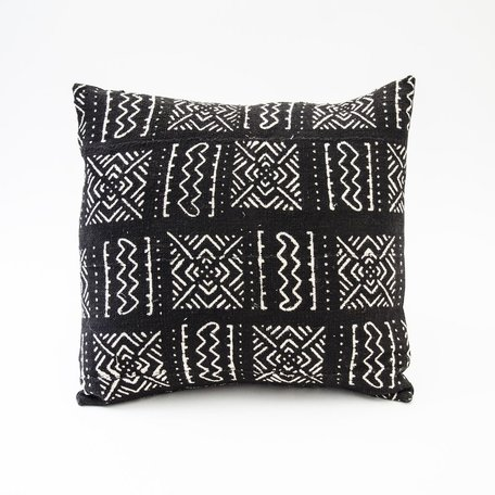 Black Mudcloth Cushion -Range