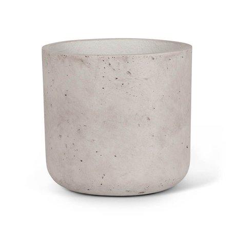 Concrete Planter -Lg/Grey