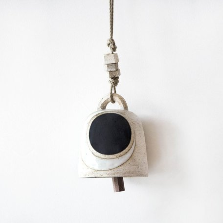 Crescent / Black Round Thrown Bell -Small