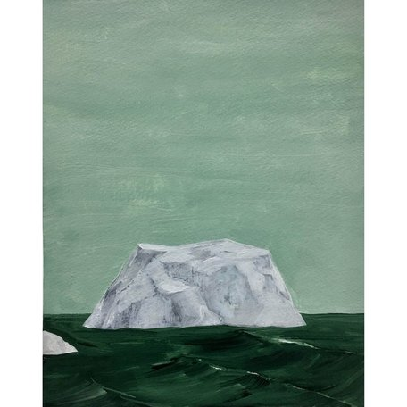 """Exhilerating Iceberg"" Original Painting 8x10"