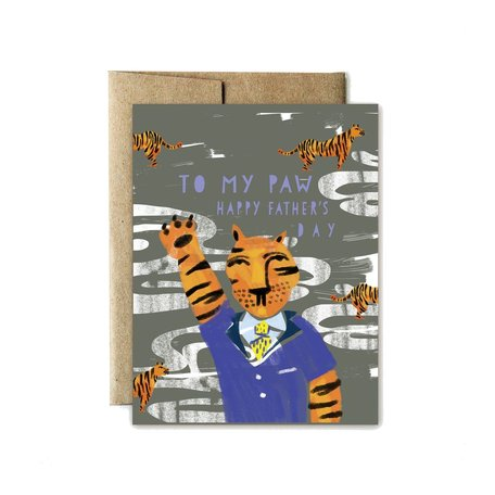 Tiger Paw Father's Day Card
