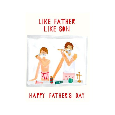 Pass the Shaving Cream Father's Day Card
