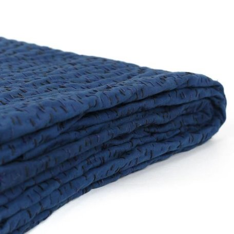 Indigo Kantha Throw