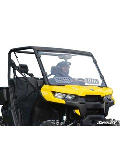 SuperATV Can-Am Defender Scratch Resistant Vented Full Windshield