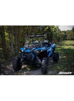 SuperATV Polaris Scratch Resistant Flip Windshield