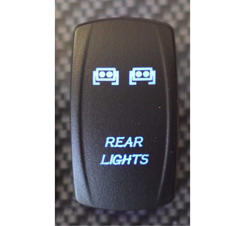 WLO - Rocker Switch / 5 -  Rear Lights  - Blue