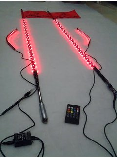 SS Lighting Stix 2 - 2' Sync'd RGB Whip Light w/ Controller & Complete Harness