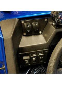 RZR Switch Plate Left Side - BOTTOM ~ 3 Position ~ Black